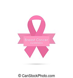Breast Cancer Awareness Ribbon vector icons pink