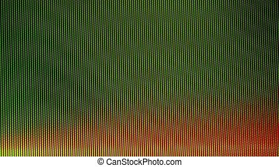 Digital TV broadcast glitch, HD resolution television screen...