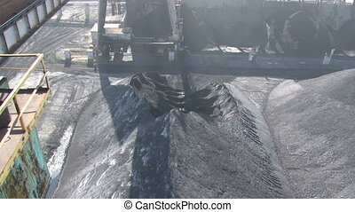 Heaps of coal and traces of handling it - Coke and Chemicals...