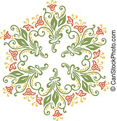 label and badge on decorative background with simple pattern