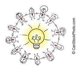 the collective intelligence - A business team around an idea...