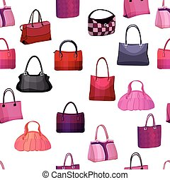 Seamless pattern with woman's bags. Endless texture for your...