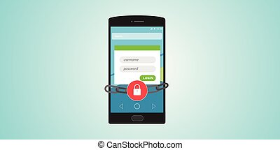 mobile authentication username and password locked and chain