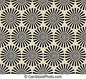 Seamless vintage circular pattern. Monochrome vector...