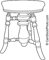 Drawing stool - Vector illustration of a stool, EPS 8 file