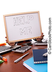 Help this businessman - businessman asking for help (hiding...