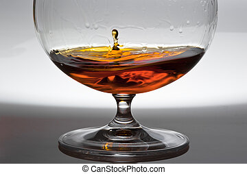 Drop from alcohol - In a glass with alcohol the drop from...