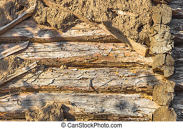 background wall texture - the wooden texture of the Adobe...