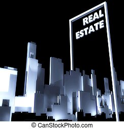 Real estate conceptual city 3d Urban development