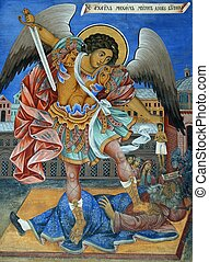 Bulgarian icon - Bulgarian Icon of St Archangel Michael,...