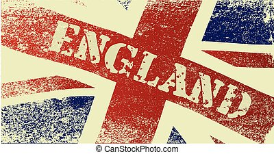 Union Jack England Grunge - A faded British Union Jack flag...