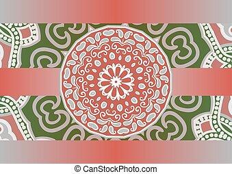 etnic mandala background