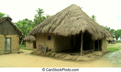 hut in an african village