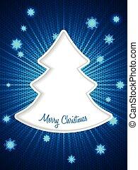 Christmas greeting card with bursting snowflakes - Christmas...