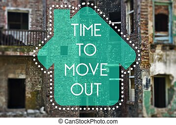 Time to move out new beginning, concept