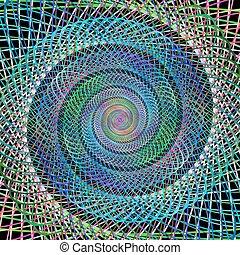 Multicolor fractal spiral background