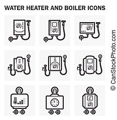 Boiler icons - Water heater and boiler icons