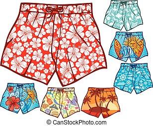 swim shorts collection (swimming trunks set, men swim...