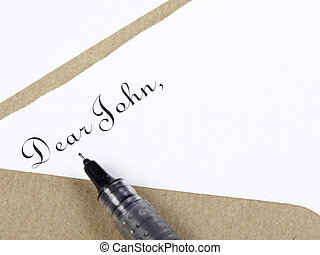 Dear John Letter - Salutation in black ink to begin a...