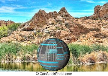 Spaceship Desert Lake
