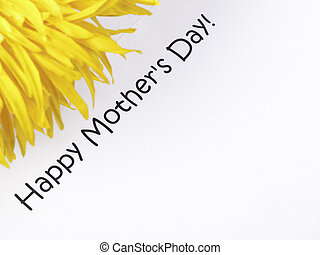 Happy Mother\'s Day written on a white piece of paper with a...