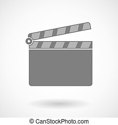 Illustration of a clapperboard - Isolated vector...