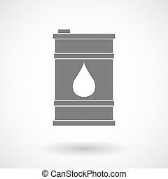 Illustration of a barrel of oil