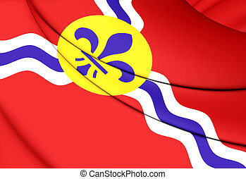 Flag of St Louis Missouri, USA - 3D Flag of St Louis...
