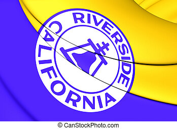 Flag of Riverside (California), USA.
