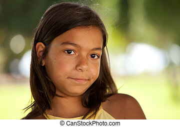 young child face