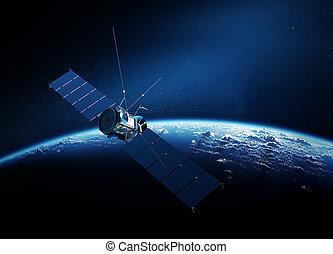 comunicaciones, satélite, El moverse en órbita...