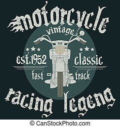 Motorcycle Racing Typography