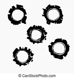 Bullets holes in background. Damage - vector illustration
