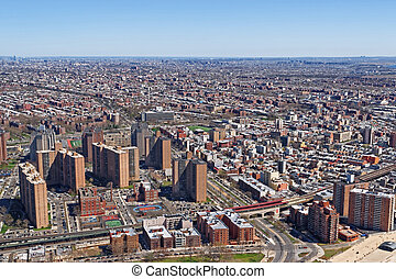 Aerial view of residential area in NYC