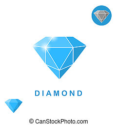 Adamant jewel isometric illustration, 3d raster