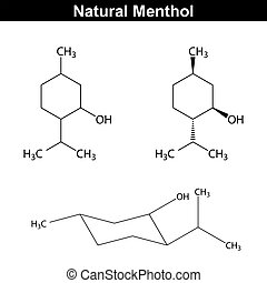 Menthol - food and pharmaceutical additive, structural...