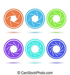 Colored aperture icons