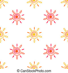 Seamless sun background, 2d spiral elements, raster