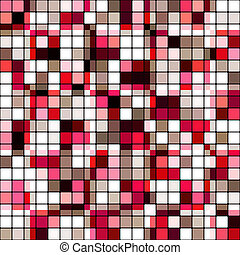 Retro tile mosaic - Retro tile color mosaic pattern...