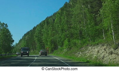 Trip on the mountain road - ALTAY REGION, RUSSIAN FEDERATION...