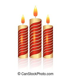 Realistic Christmas candle vector