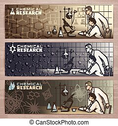 Chemistry banner1 - Chemical vector banner design with...