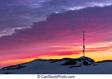 Sunset in Greenland, Nuuk, Greenland