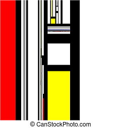 Mondrian abstract modern art design pattern background...