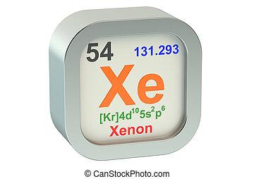 Xenon element symbol  isolated on white background
