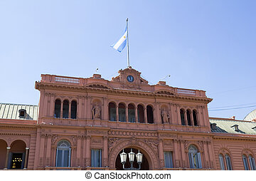 Casa Rosada (Pink House) Presidential Palace of Argentina....