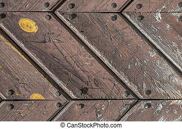 old wooden door of the boards