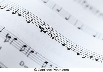 Music Sheet Closeup - Closeup picture of music sheet with...