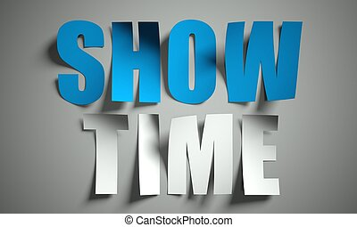 Show time cut from paper on background