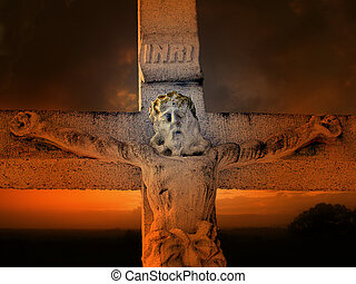Jesus figure on the cross